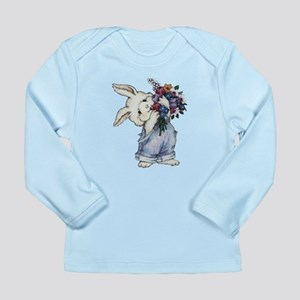 Bunny with Flowers Long Sleeve Infant T-Shirt