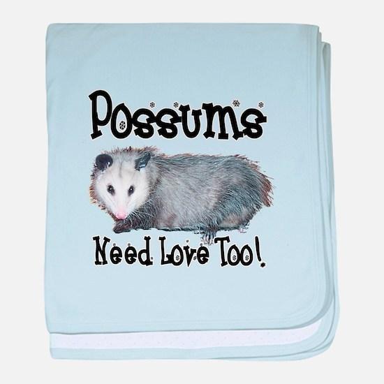 Possums Need Love baby blanket