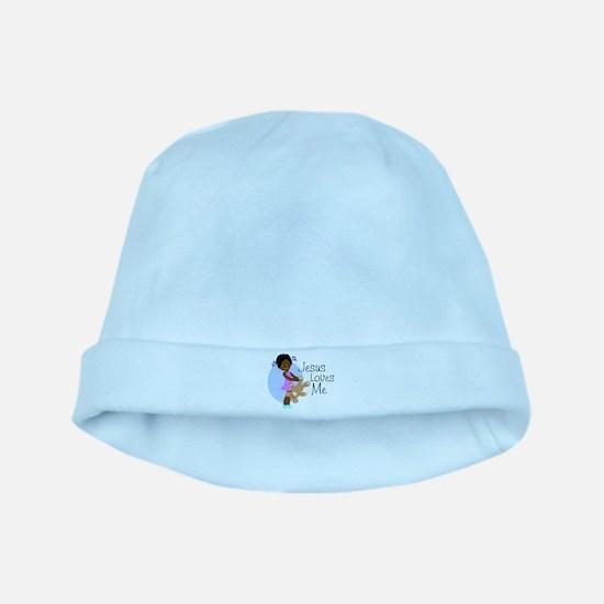 Jesus Loves Me baby hat