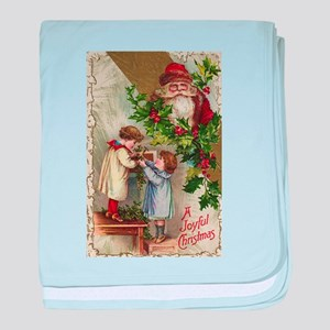 Vintage Christmas Card baby blanket