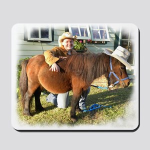 4-H Cowgirl in a leather jacket (fuzzy edges) Mous