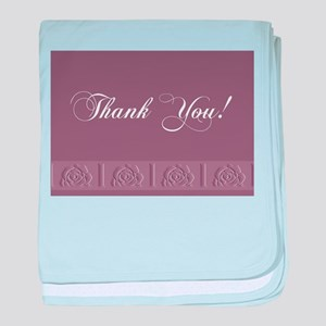 Thank You Roses baby blanket