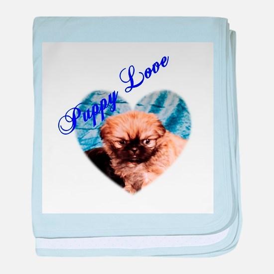 Puppy Love baby blanket