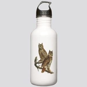 Great Horned Owls Stainless Water Bottle 1.0L