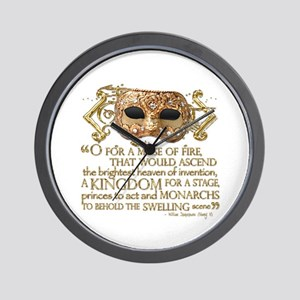 Henry V Quote Wall Clock