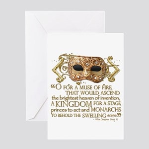 Henry V Quote Greeting Card