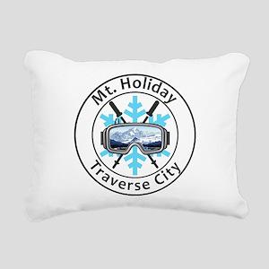 Mt. Holiday - Traverse Rectangular Canvas Pillow