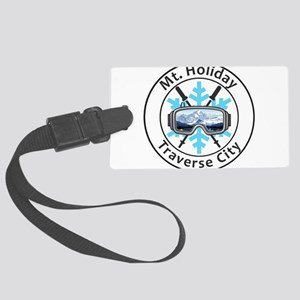 Mt. Holiday - Traverse City - Large Luggage Tag