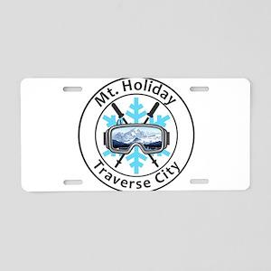 Mt. Holiday - Traverse Ci Aluminum License Plate