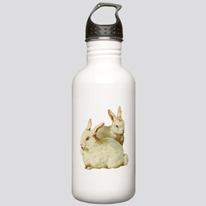 Two White Bunnys Stainless Water Bottle 1.0L