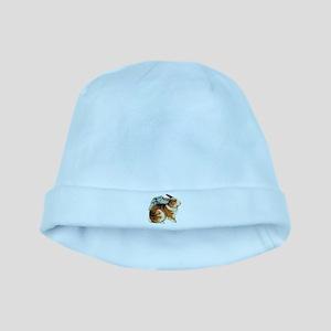 Brown & White Rabbit baby hat