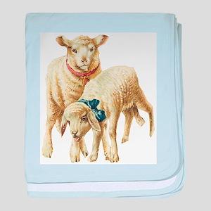 Lamb drawing baby blanket