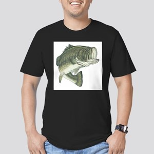 Large Mouth Bass Men's Fitted T-Shirt (dark)