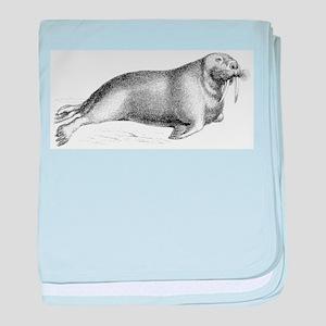 Walrus baby blanket