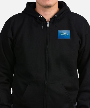 Great White Shark Zip Hoodie (dark) Sweatshirt