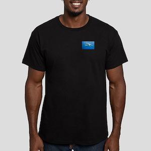 Great White Shark Men's Fitted T-Shirt (dark)