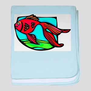 Red fish baby blanket