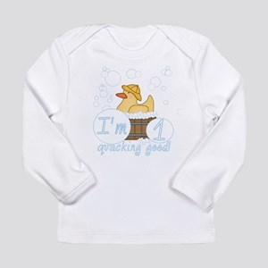 Rubber Duck 1st Birthday Long Sleeve Infant T-Shir