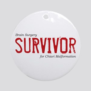 Brain Surgery Survivor Ornament (Round)