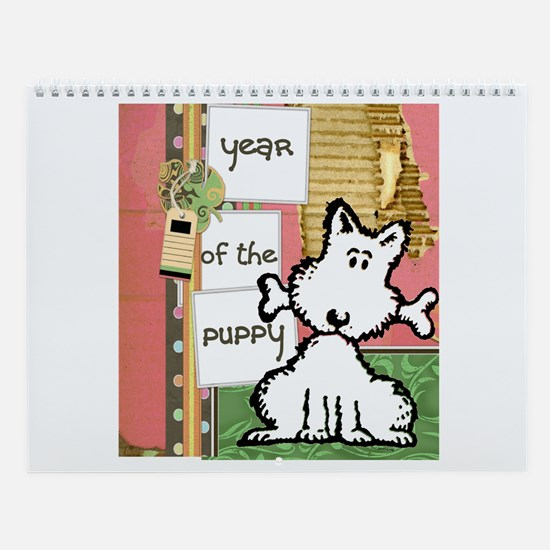 Year of the Puppy Wall Calendar