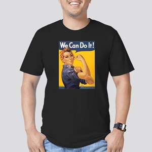 We Can Do It! Men's Fitted T-Shirt (dark)