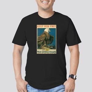 Eagle War Poster Men's Fitted T-Shirt (dark)