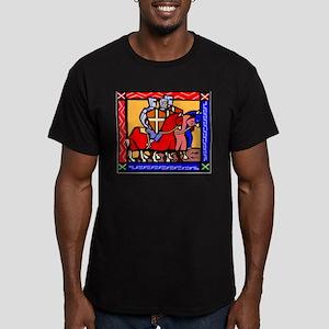 Knights Templar Men's Fitted T-Shirt (dark)