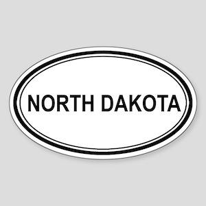 North Dakota Euro Oval Sticker