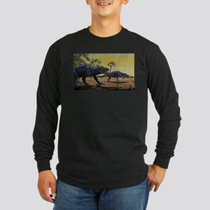 Dinosaurs Long Sleeve Dark T-Shirt