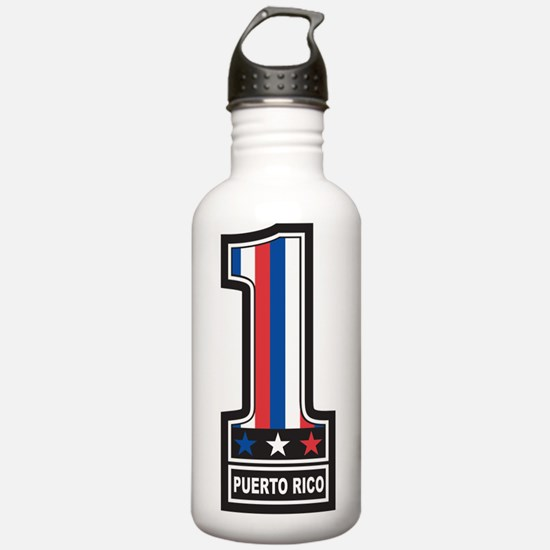Number 1 Puerto Rico Water Bottle
