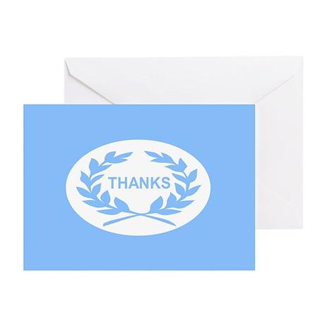 Laurel Wreath: (blue) Greeting Cards (Pk of 20)