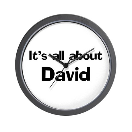 It's all about David Wall Clock