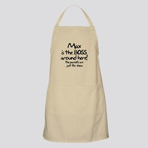 Max is the Boss Apron
