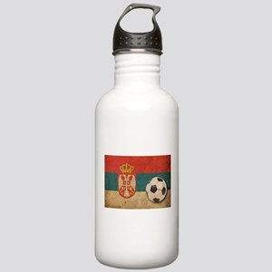 Vintage Serbia Football Stainless Water Bottle 1.0