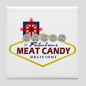 Vegas Bacon Tile Coaster