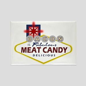 Vegas Bacon Rectangle Magnet