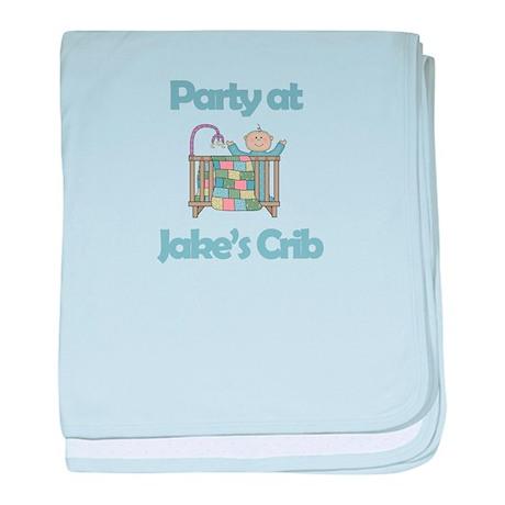 Party at Jake's Crib baby blanket