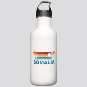 Retro Palm Tree Somalia Stainless Water Bottle 1.0
