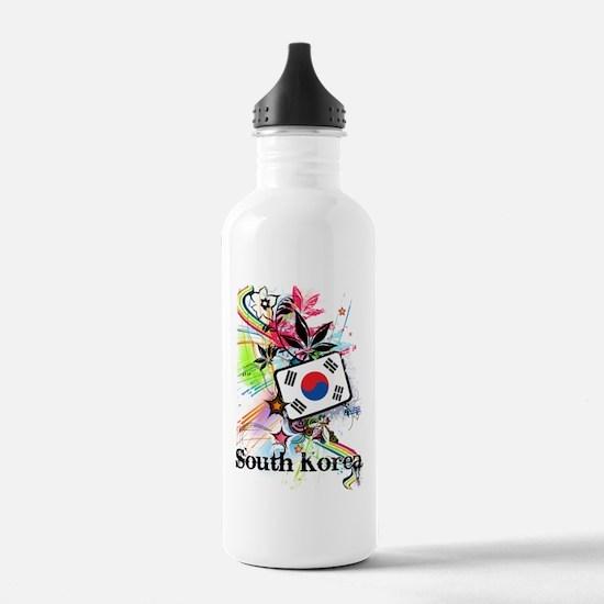 Flower South Korea Water Bottle