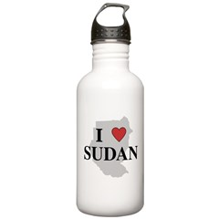 I Love Sudan Water Bottle