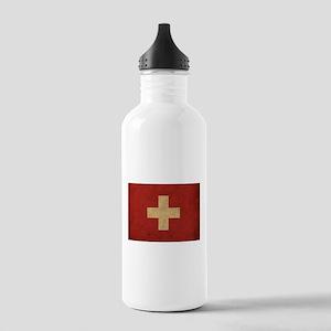 Vintage Switzerland Flag Stainless Water Bottle 1.