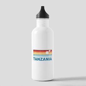Retro Palm Tree Tanzania Stainless Water Bottle 1.