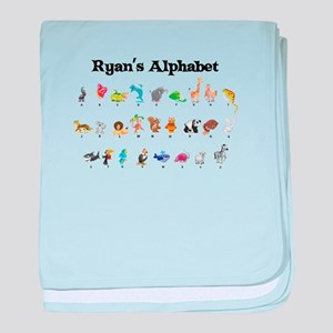 Ryan's Animal Alphabet baby blanket