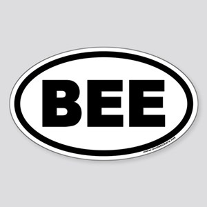BEE Euro Oval Sticker