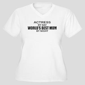 World's Best Mom - Actress Women's Plus Size V-Nec