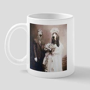 Basset VINTAGE WEDDING Mug