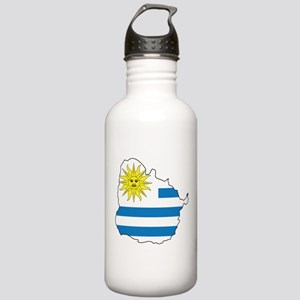 Map Of Uruguay Stainless Water Bottle 1.0L