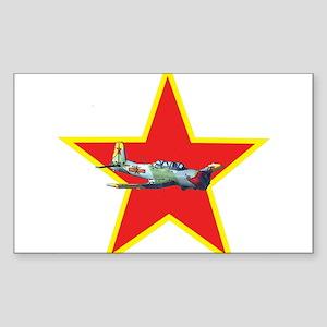 Fly Redstar Rectangle Sticker