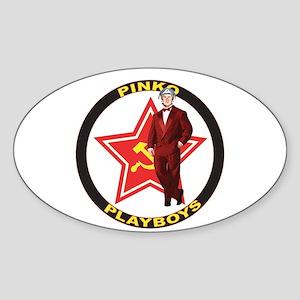 Fly Redstar Oval Sticker