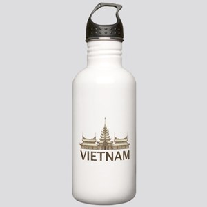 Vintage Vietnam Temple Stainless Water Bottle 1.0L